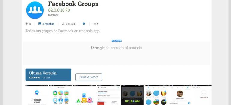 App Facebook groups