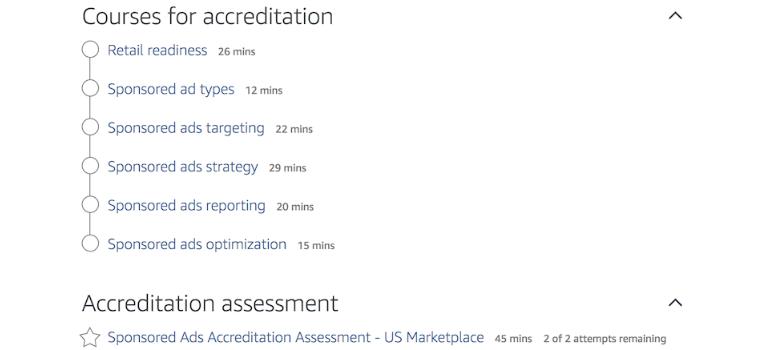 Tipos de cursos de la consola de aprendizaje de Amazon