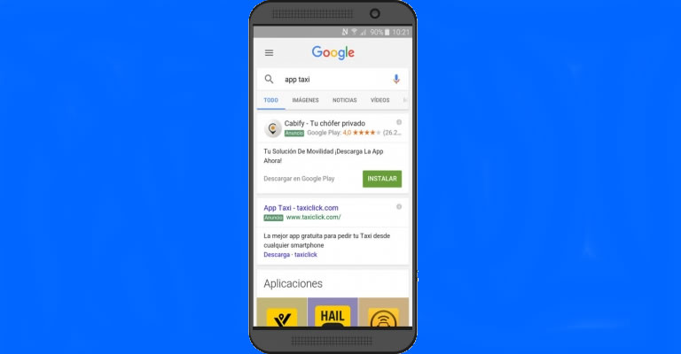 Campaña de descargas de app