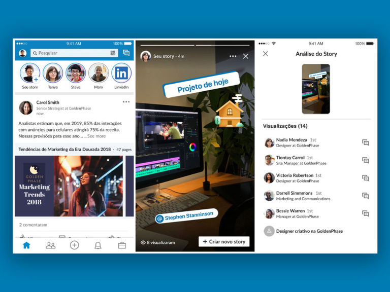 Tendencias de marketing digital en 2021: Linkedin Stories