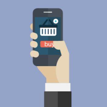 Versión móvil de una tienda online