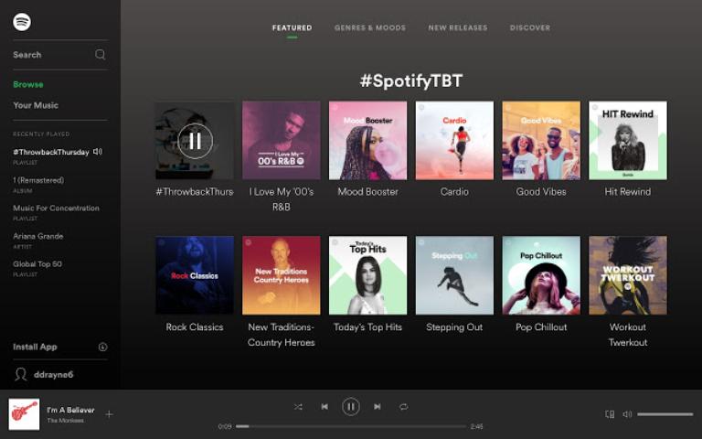 Estrategias de marketing en Spotify
