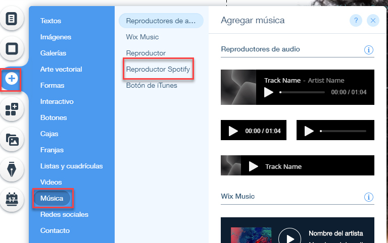 Reproductor web