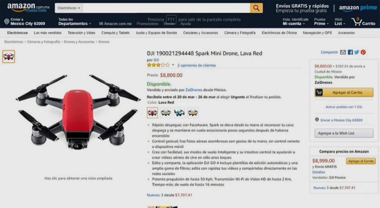 Página de Amazon