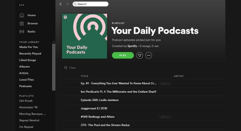 Plataforma Spotify