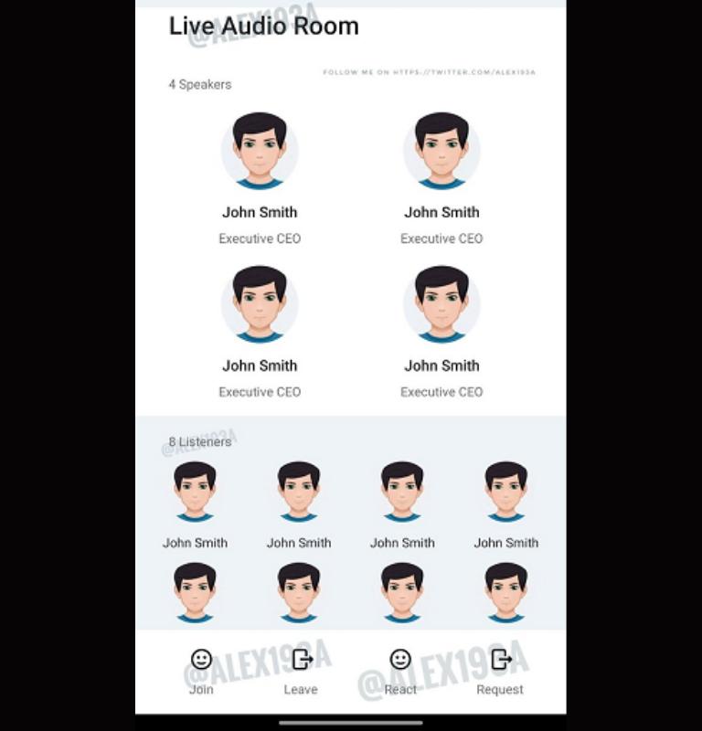 Salas de audio en redes sociales