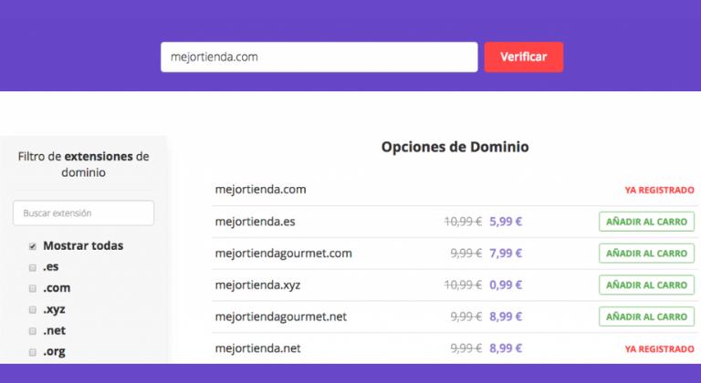 Claves para elegir un dominio: disponibilidad