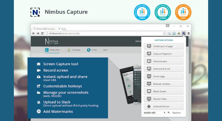 Extensiones de Chrome para marketing digital: Nimbus