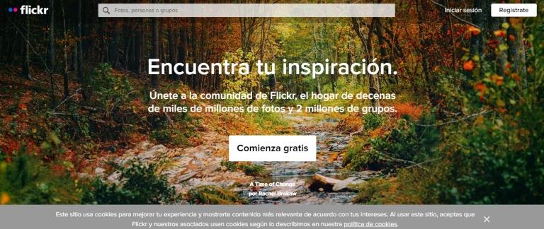 Bancos de imágenes gratuitos: Flickr
