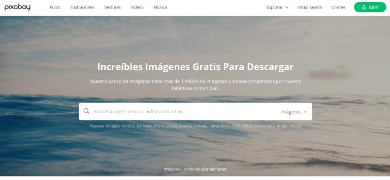Bancos de imágenes gratuitos: Pixabay