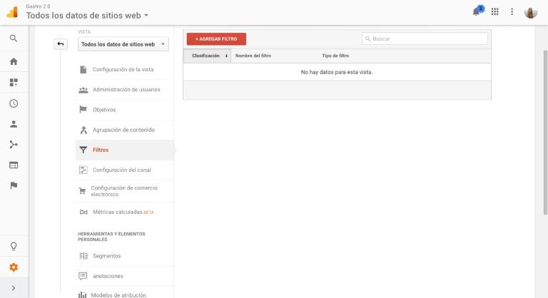 Cómo crear filtros en Google Analytics