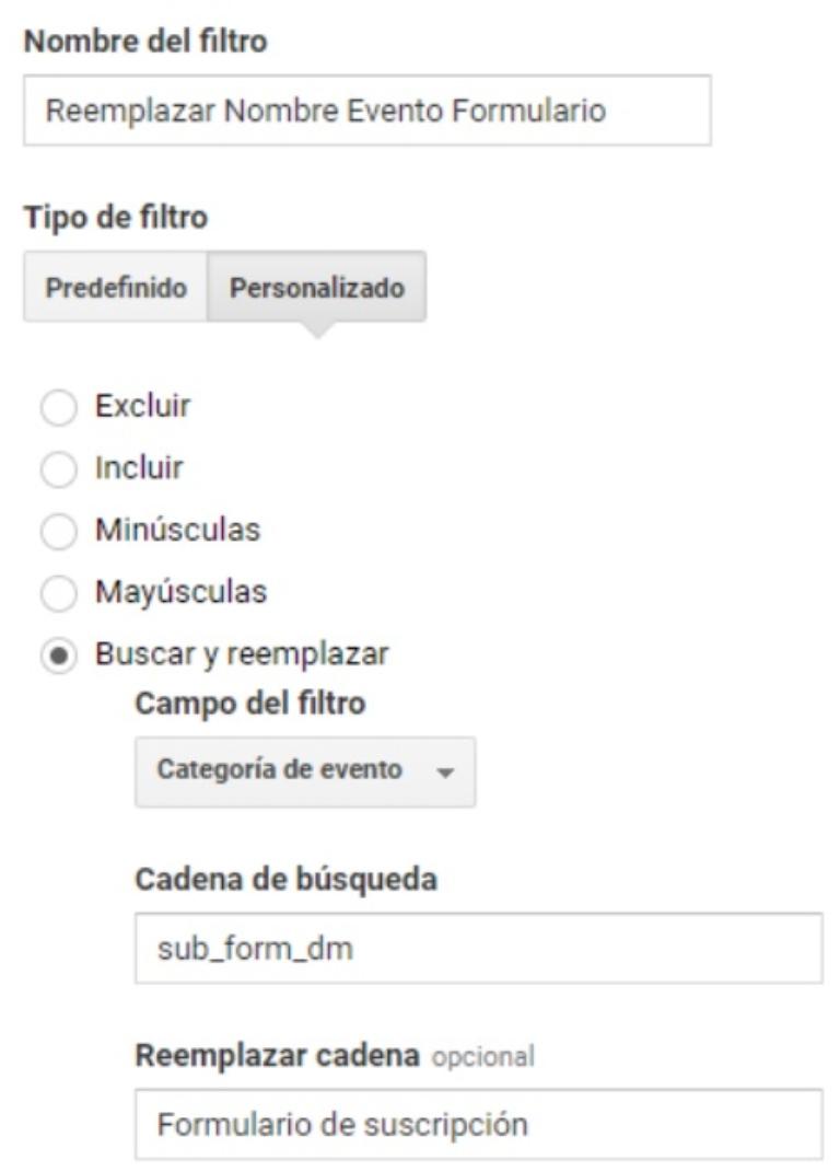 Filtros en Google Analytics: buscar y reemplazar tráfico no deseado