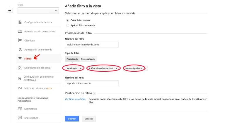 Filtros en Google Analytics: incluir o excluir tráfico a los subdirectorios