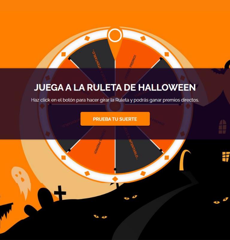 Gana suscriptores con una ruleta de premios este Halloween